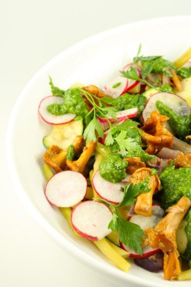 Siltie gaileņu salāti - 06